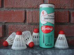 Vintage Badminton Shuttlecocks 1950's by CoolFindsShoppe on Etsy