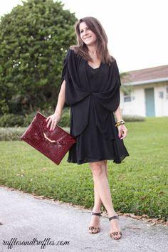 Draped dress. #style