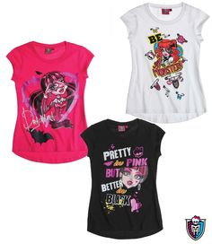 This is an officially licensed Monster High t-shirt. Are you looking for the trendiest Monster High wear for your girl to wear? Suitable to wear to school or play because they are super stylish. 6-12 years