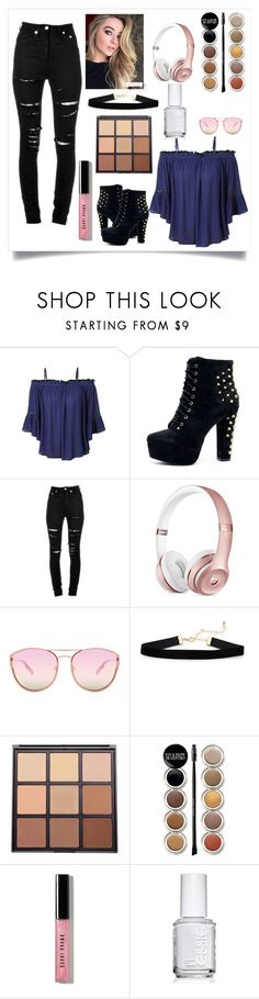"""""""Sabrina Carpenter Inspired 😍"""" by elizatabitha ❤ liked on Polyvore featuring LE3NO, Yves Saint Laurent, Quay, Morphe, Giorgio Armani, Bobbi Brown Cosmetics and Essie"""