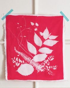 Create beautiful prints using sun activated fabric dye and summer foliage.