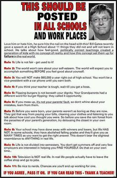 "I LOVE this!!!!!! Bill Gates Rules for kids:  Can I make this my ""welcome"" letter?"