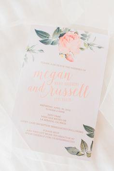 Pretty wedding paper in peach