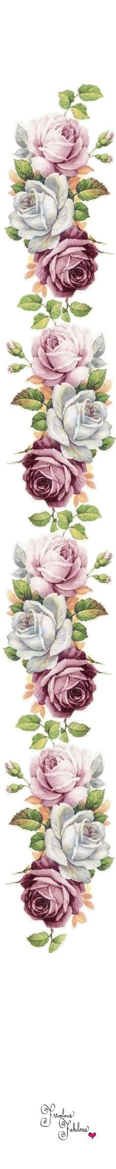 roses for lilac cottage Vintage Diy, Vintage Cards, Vintage Paper, Vintage Flowers, Vintage Pictures, Vintage Images, Etiquette Vintage, Foto Transfer, Victorian Flowers