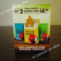 Free Coupons Online, Free Coupons By Mail, Cigarette Coupons Free Printable, Print Coupons, Spirit Coupon, American Spirit Cigarettes, Coupon Codes, Coding, Natural