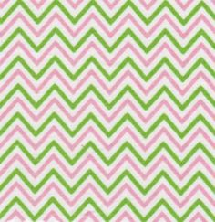 Fabric Finders Chevron Pink/Lime 1/4  Stripe