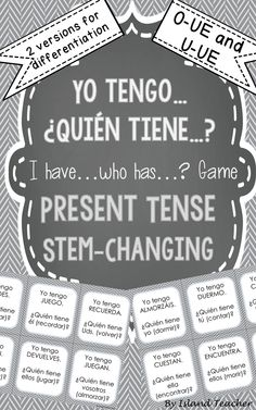 Present Tense ER and IR Verbs I have. Game Interactive, whole class game to practice Spanish Present Tense ER and IR verbs.Interactive, whole class game to practice Spanish Present Tense ER and IR verbs. Spanish Teaching Resources, Spanish Activities, Spanish Language Learning, Spanish Games, Listening Activities, Classroom Resources, Preterite Spanish, Spanish Vocabulary, Spanish Grammar