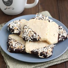 Toasted Coconut Shortbread Cookies by @Tracey Wilhelmsen (Tracey's Culinary Adventures)