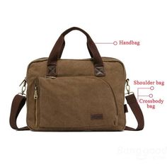 Men Messenger Bags Canvas Male Handbag Casual Outdoor Bag - US$25.29