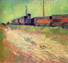 Vincent Van Gogh - Railway Carriages. August 1888