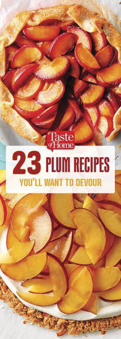 Plum Crisp - 23 Plum Recipes You'll Want to Gobble Right Up Best Plum Recipes, Plum Recipes Healthy, Fall Recipes, Sweet Recipes, Favorite Recipes, Plum Recipes Dinner, Fruit Recipes, Gourmet Recipes, Dessert Recipes