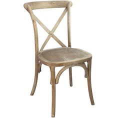 The X-Back natural with white grain cross back chair has a solid beechwood construction and a durable bent wood back. These x-back chairs ship fully assembled and stack up to 8 high for easy storage.