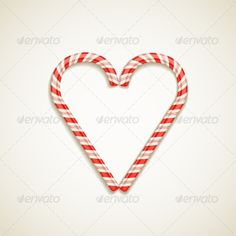 candy canes shape of heart vector illustration love concept. Editable EPS and Render in JPG format