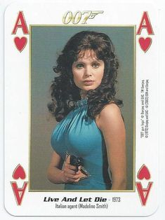 JAMES BOND 007 - SINGLE PLAYING CARD - FILMS 1 - 10 - ACE OF HEARTS