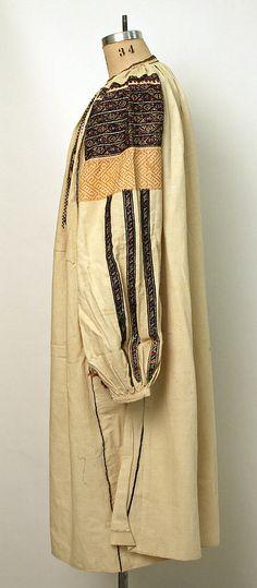 Ensemble Date: Culture: Romanian Medium: cotton, wool, glass Folk Costume, Metropolitan Museum, Raincoat, Textiles, Cotton, Folklore, Clothes, Ethnic, Collection