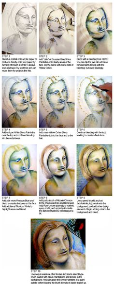 Pam Carriker's Shiva paintstik portrait tutorial for Somerset
