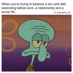 When You're Trying To Balance A Low Carb Diet