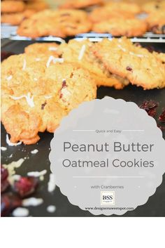 Quick and Easy Peanut Butter Oatmeal Cookies|Designers Sweet Spot|www.designerssweetspot.com