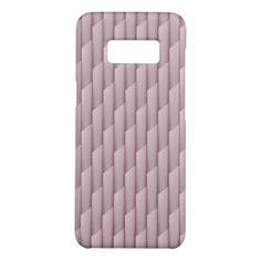 Light Shades of Purple Geometric Abstract Stripes Case-Mate Samsung Galaxy S8 Case - modern style idea design custom idea