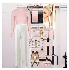 """""""♡♡"""" by httplonelyheart ❤ liked on Polyvore featuring Topshop, Michael Kors, Jimmy Choo, MAC Cosmetics, Yves Saint Laurent, Rolex, Juicy Couture, Bloomingdale's, Chicnova Fashion and Pink"""