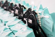 Favors at a Tiffany Party #tiffany #partyfavors