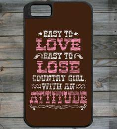 Country Girl ® CG Attitude iPhone 4 Phone Case