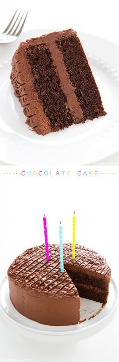 Chocolate Cake with Chocolate Buttercream Frosting -