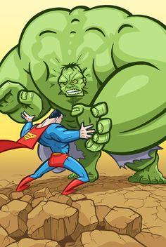 Superman vs. Hulk by ~andrewchandler80 on deviantART