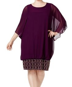 **Holiday Wear**  Only 1 Left Size 3X!  Was $79, NOW $20.97 + Ships FREE!  Purple Plum Embellished Hem Plus Shift Dress  Save $58: http://ebay.to/2AbC6w0  #ad