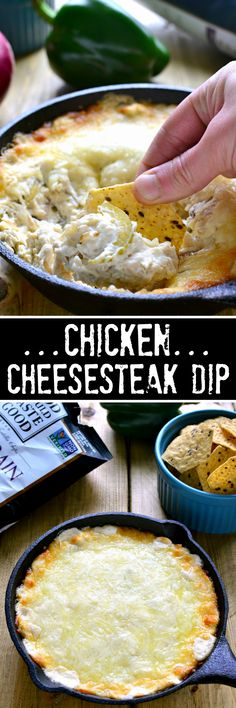 Chicken Cheesesteak Dip is ooey, gooey, and loaded with all the ...