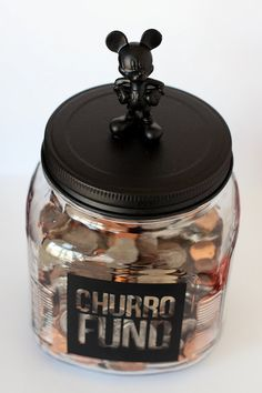 Create a customized saving jar for your next trip - this one happens to be for a churro at Disney :)