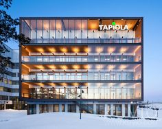 Tapiola HQ in Espoo is designed by Sarc Architects