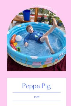 [Ad] No big back yard? Doesn't matter, because this little kiddie pool will fit on a balcony. If you have limited space but kiddo wants a refreshing dip in the water, this Peppa Pig pool is a blessing in disguise. And in bad weather, you can use it indoors as a ball pit. Family Pool, Big Family, Little Pool, Kiddie Pool, Pink Swimsuit, Water Toys, Child Love, Cool Pools, Peppa Pig