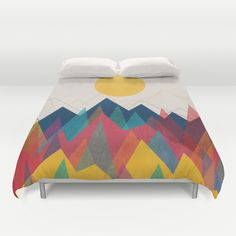 Uphill Battle Duvet Cover by Budi Kwan - $99.00