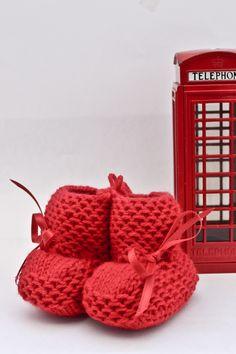 Baby Wool Boots - Baby Red.  https://www.facebook.com/flocosdela