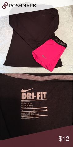 Nike Dri-Fit Long Sleeve Top Size M, super light material.  Color is black. Nike Tops Tees - Long Sleeve