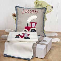 Personalised Red Tractor Nursery Set