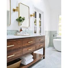 Bathroom Cabinets Ideas - Whether your bathroom is large or small, . Bathroom Linen Cabinet Design Ideas, Pictures, Remodel and Decor. Bathroom Renos, Bathroom Renovations, Small Bathroom, Gold Bathroom, Bathroom Vanities, Bathroom Ideas, Peach Bathroom, Bathroom Bin, Glass Bathroom