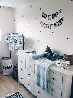 Our nursery in black, white, mint. I love it!