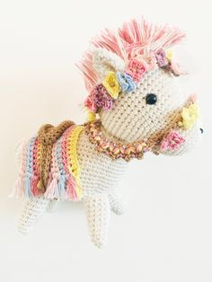 Crochet Horse - Horse with flowers - panagbenga Baguio - Philippines  - Amigurumi Toys - Handmade Christmas Bunting, Christmas Lights, Horse Horse, Horses, Baguio Philippines, Crochet Penguin, Crochet Horse, Flower Festival, Bunting Garland