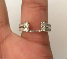 14kt White Gold Wrap Guard Station Solitaire Enhancer Diamonds Ring Jacket (0.47ctw) by RG&D... #gold #diamonds #ringguard #wrap #enhancer #fashion #jewelery #love #gift #ringjacket #engagement #wedding #bridal #engaged #whitegold #yellowgold #online #shopping #jewelry #pintrest #follow #richmondgoldanddiamonds