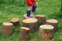 Natural Playground Inspiration {Outdoors Play, Organic Playgrounds}
