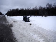 Freezing Rain blamed for Rollover Accidents in Cheboygan County