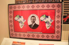 Barack Obama kanga. 'Congratulations Barack Obama'. Printed cotton. Kenya, 21st century.