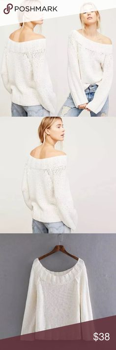 White Slouchy SWEATER Oversized Knit Pullover BRAND NEW!! Effortless sweater featuring a slouchy cotton-blend fabric and oversized, relaxed silhouette.  98% Cotton 1% Spandex 1% Nylon Sweaters