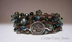 Beaded Crochet Wrap Bracelet Necklace by CristinaDavisJewelry, $42.50