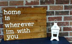 Upcycle a pallet with  a quote about home for Valentine's Day. #ValentinesDay