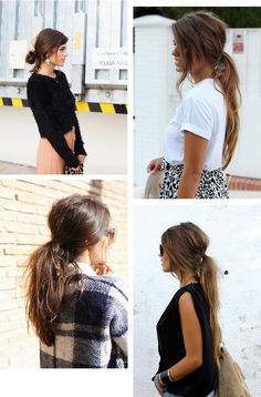 Messy ponytail hair tutorial