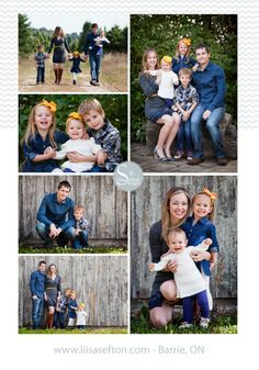 Here, the family is mainly wearing jeans. I love the pop of yellow with the headbands and mom's belt. Fall Family Picture Outfits, Family Photo Colors, Family Pictures What To Wear, Family Portrait Outfits, Summer Family Pictures, Cute Family Photos, Fall Family Portraits, Family Outfits, Family Posing