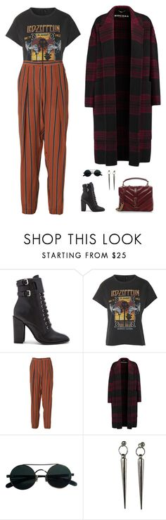 """""""glam rock"""" by candynena228 ❤ liked on Polyvore featuring Schutz, And Finally, By Malene Birger, Rochas, Minx Jewelry Design and Yves Saint Laurent"""